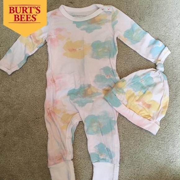 4bdc25c8a3ee Burt s Bees Baby Other - Organic Burt s Bee Pink Watercolor Onesie ...